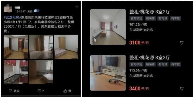 图 | 桃花源小区2018年2500元,如今涨到3500元左右